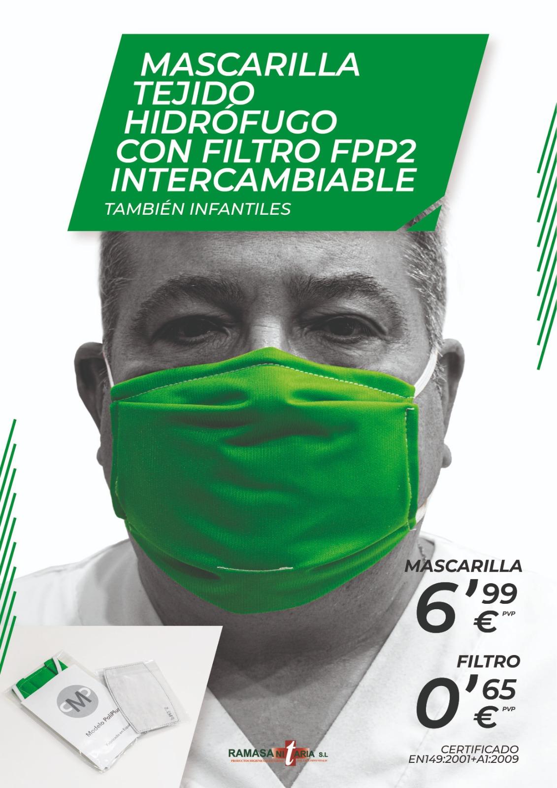 MASCARILLA CON FILTRO RECAMBIABLE