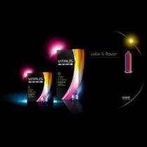 condones vitalis color y sabor