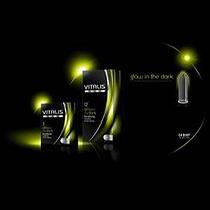 Condones Vitalis fluorescente