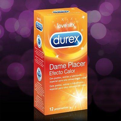 Condones Durex Dame Placer con efecto calor