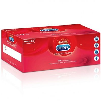 Condones Durex Sensitivo Suave · Caja 144 unidades