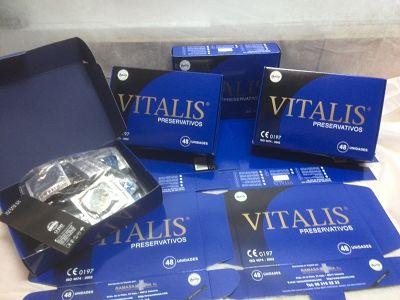 Preservativos Vitalis Safety · Cajas 48 unidades