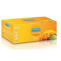 Condones Durex Pleasurefruits · Caja 144 unidades