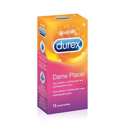 DUREX DAME PLACER  (PUNTOS Y ESTRIAS)